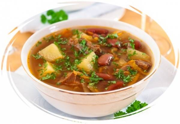 Рецепты супов с фасолью и мясом
